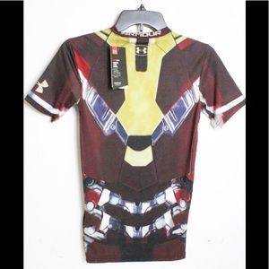 NEW UNDER ARMOUR Iron Man Avengers Shirt-Size S